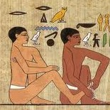 Picture of ancient Egyptians practicing Reflexology