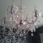 Janette West Hands on Feet Reflexology - Crystal chandelier