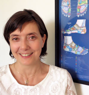 Reflexologist Saga Gibbs